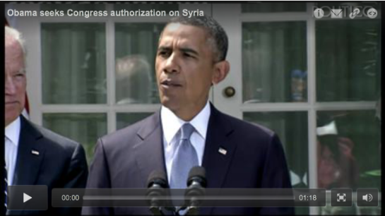 Obama: U.S. 'should' punish Syria; will seek congressional permission