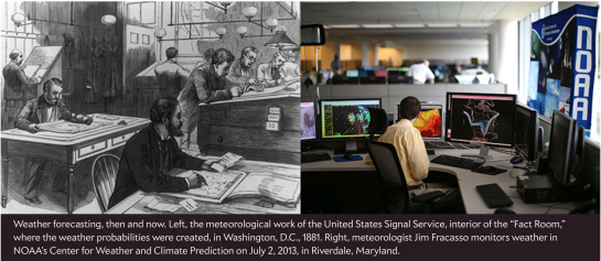 Left: Illustration courtesy Library of Congress. Right: Photo by Mark Wilson/Getty Images.