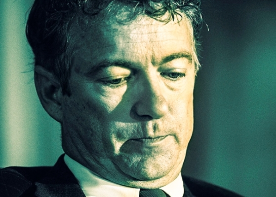 """Sen. Rand Paul and other conservatives choose """"freedom"""" over lives. Photo illustration by Slate. Photo by Kevin Lamarque/Reuters."""