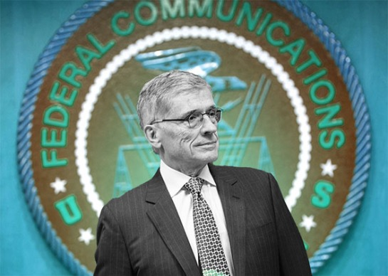 Federal Communication Commission Chairman Tom Wheeler. Photo illustration by Slate. Photo by Brendan Smialowski/AFP/Getty Images.