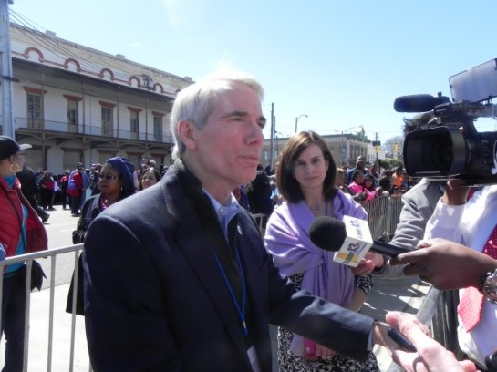 Sen. Rob Portman (R-OH) says hasn't read the bill to restore the Voting Rights Act. CREDIT: ALICE OLLSTEIN
