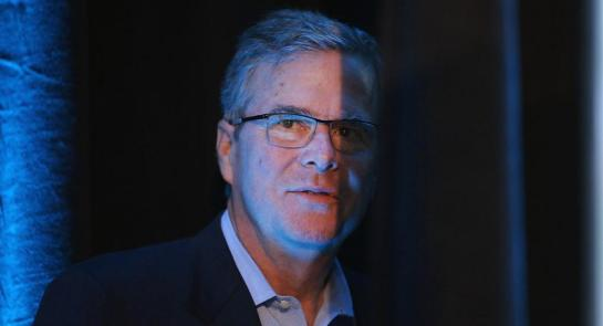 DES MOINES, IA - MARCH 07:  Former Florida Governor Jeb Bush waits to be introduced at the Iowa Ag Summit on March 7, 2015 in Des Moines, Iowa. The event allows the invited speakers, many of whom are potential 2016 Republican presidential hopefuls, to outline their views on agricultural issue.  (Photo by Scott Olson/Getty Images) -- AP Photo