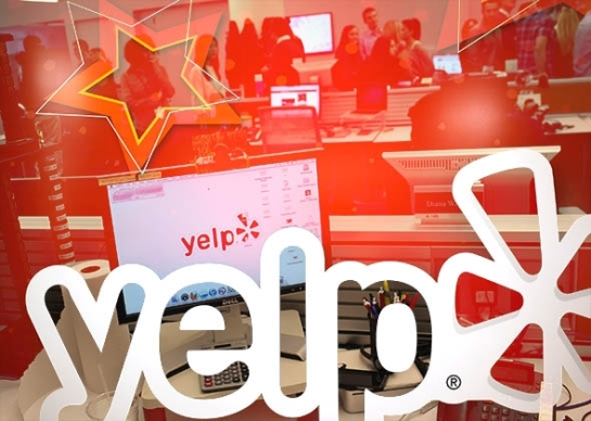 Who should buy Yelp? Photo illustration bySlate. Photos by Spencer Platt/Getty Images and Jim Young/Reuter