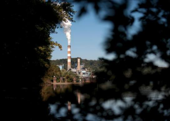 Global trends show we're still winning the war on coal, despite Monday's Supreme Court ruling. Here, the Mitchell Power Station, a coal-fired power plant in New Eagle, Pennsylvania, before it was shut down in 2014.  -- Photo by Jeff Swensen/Getty Images