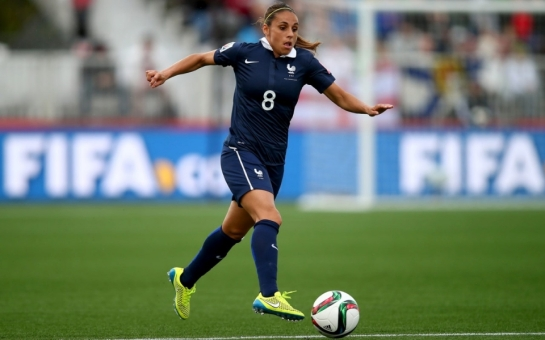 Jessica Houara-d'Hommeaux of France during a Women's World Cup match between France and Colombia in Moncton, Canada, June 13, 2015.Clive Rose / FIFA / Getty Images