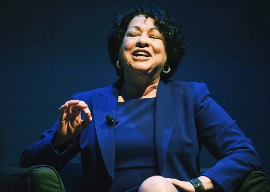 Supreme Court Justice Sonia Sotomayor speaks at the Museo del Barrio in New York in 2013. Photo by Keith Bedford/Reuters