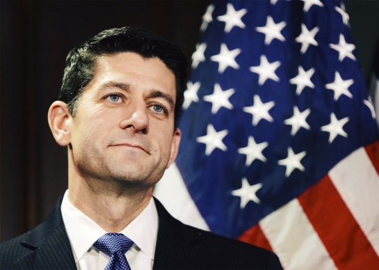 Newly elected Speaker of the House Paul Ryan holds his first news conference at Republican National Committee headquarters in Washington on Nov. 3, 2015. Photo by Gary Cameron/Reuters