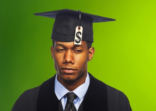 Student loan debt doesn't have to be overwhelming—and it isn't in many other places. Photo illustration by Sofya Levina. Images by Burlingham/Shutterstock and irin-k/Shutterstock.