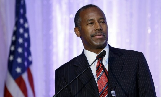 Republican presidential candidate Ben Carson speaks during the Black Republican Caucus of South Florida event benefiting the group's scholarship fund Friday, Nov. 6, 2015, in Palm Beach Gardens, Fla. (AP Photo/Alan Diaz)