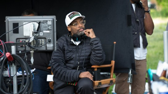 Spike Lee directing on the set of Chi-Raq
