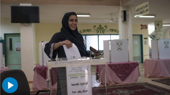 Women headed to the polls in Saudi Arabia for the first time in history Saturday, as nationwide municipal elections were held- elections in which women could also run for office for the first time. Lama al-Suleiman, pictured above, was elected in her North Jeddah district. Photo: Monique Jaques for The Wall Street Journal