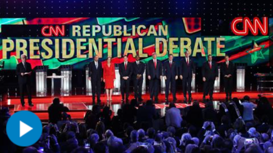 The fifth Republican debate, hosted by CNN, revealed a rift on national security issues ranging from how to deal with Islamic State to data collection. Watch in two minutes. Photo: Getty