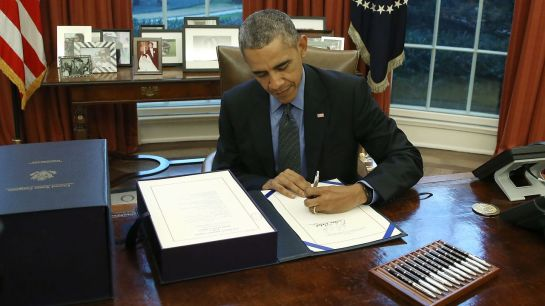 k Obama in the Oval Office.  -- Mark Wilson/Getty Images