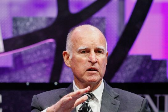 California Gov. Jerry Brown.		Photo by Kimberly White/Getty Images for Fortune