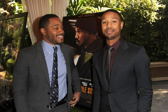 Director Ryan Coogler (L) and actor Michael B. Jordan were among the latest crop of Academy invitees. -- Kevin Winter/Getty Images for AFI