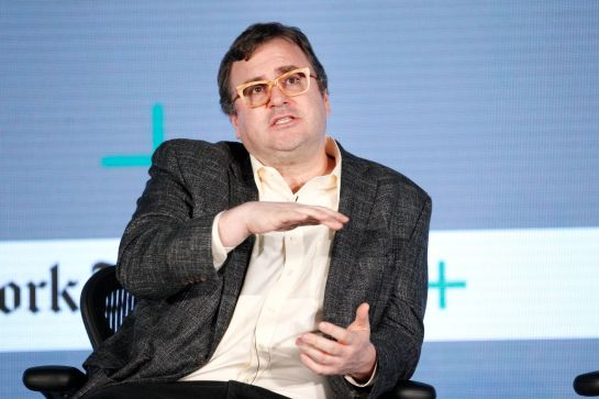 LinkedIn founder Reid Hoffman will be a wealthy man as a result of the deal.-- Photo by Kimberly White/Getty Images for New York Times