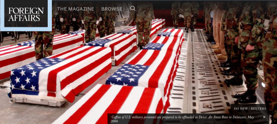 HO NEW / REUTERS  Coffins of U.S. military personnel are prepared to be offloaded at Dover Air Force Base in Delaware, May 2004.