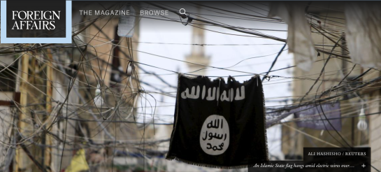 ALI HASHISHO / REUTERS  An Islamic State flag hangs amid electric wires over a street in Ain al-Hilweh Palestinian refugee camp, near the port-city of Sidon, southern Lebanon January 19, 2016.