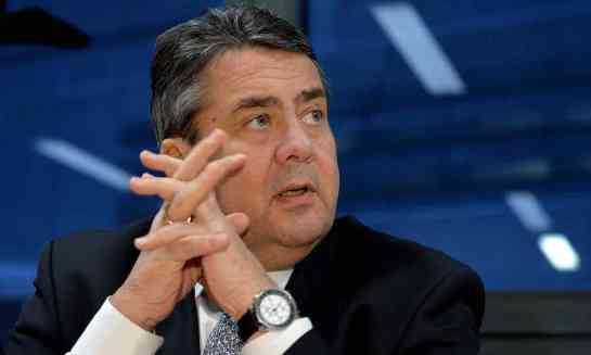 Asked what Trump could do to make sure German customers bought more American cars, Sigmar Gabriel said: 'Build better cars.' Photograph: Sascha Steinbach/EPA