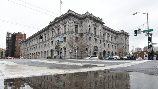 On Tuesday, arguments related to President Trump's temporary travel ban will be presented by phone to a three-judge panel of the 9th U.S. Circuit Court of Appeals and live-streamed at the James R. Browning U.S. Court of Appeals building in San Francisco. Josh Edelson/AFP/Getty Images